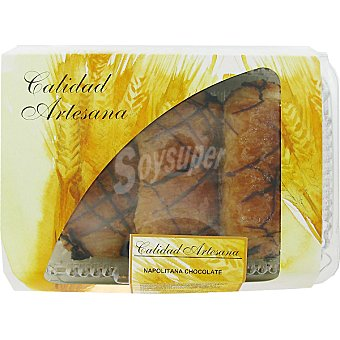 HIPERCOR napolitana de chocolate producción propia bandeja 228 g 3 unidades