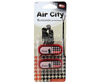 CARLINEA Ambientador de Coche para Rejilla de Ventilación con olor a la Romantica Ciudad de Paris, Air City 1 Unidad