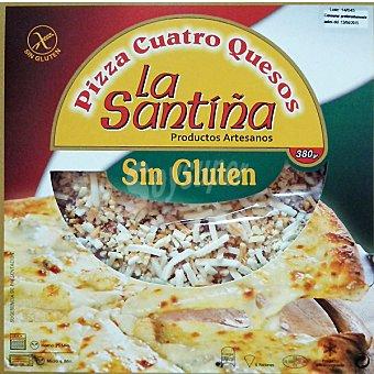 La Santiña Pizza cuatro quesos sin gluten estuche 380 g