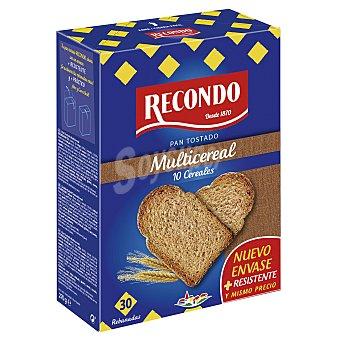 Recondo Pan tostado fibra con 10 cereales Paquete 270 g (30 ud)