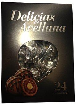 HACENDADO BOMBON DELICIAS DE AVELLANA (RELLENO DE AVELLANA Y CHOCOLATE) CAJA 24 u