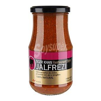 Tiger Khan Salsa Jalfreizi - Curry Picante Medio con Tomate, Coco, Cilantro y Chili Dulce 425 g