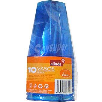 Aliada Vaso azul 25 cl paquete 10 unidades Vaso 25 cl