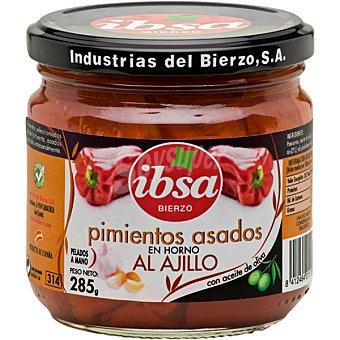Ibsa Pimientos del Bierzo asados en horno pelados a mano picantes con aceite de oliva Frasco 220 g neto escurrido