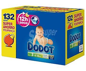 Dodot Pañales talla 3 para bebés de 4 a 10 kilogramos 132 unidades
