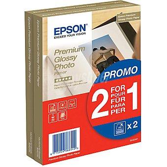 Epson Papel fotográfico Glossy Premium de 10 x 15 cm 225 g/m² pack 2 unidades 225 g