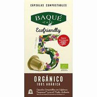 Café Baqué Café arábica orgánico Caja 10 monodosis