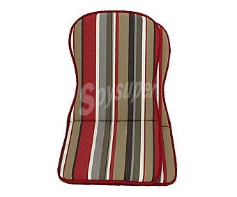 Auchan Cojínes para sillas con respaldo alto de color marrón, de 92x45x3.5 cm 2 unidades