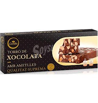 Condis Turrón chocolate con almendras 200 G