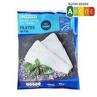 Eroski Filetes de merluza sin piel 540 g