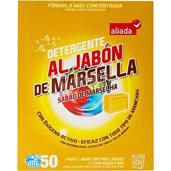 Aliada Detergente máquina polvo al jabón de Marsella con oxígeno activo Maleta 50 cacitos
