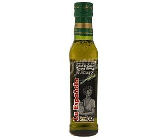 La Española Aceite de oliva virgen extra al romero Botella de cristal de 250 ml