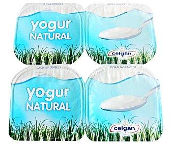 Celgán Yogur natural Pack 4 envases x 125 g