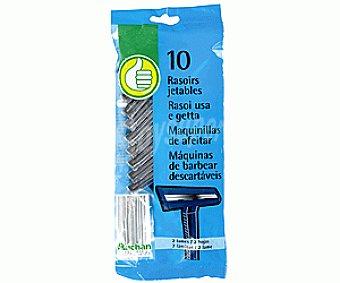 Productos Económicos Alcampo Maquinillas de Afeitar Desechables para Hombre Doble Hoja 10u