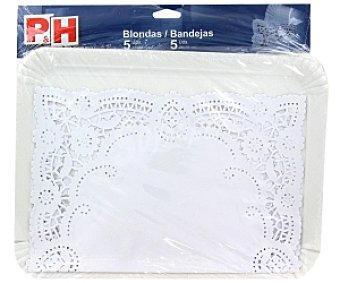 P & H Blondas 31x38cm + Bandejas 25x34cm 5 Unidades + 5 Unidades