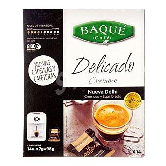 Baqué Café Nueva Delhi - Intensidad 5 Caja 14 monodosis