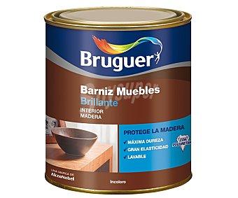 BRUGUER Barniz para Muebles Incoloro, Acabado Brillante 0,75 Litros