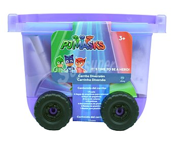 Pjmasks Carrito de diversión para realizar manualidades y actividades, PJMASKS.