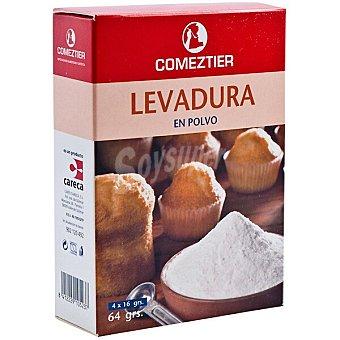 Comeztier Levadura en polvo 4 bolsitas x 16 G Paquete 64 g