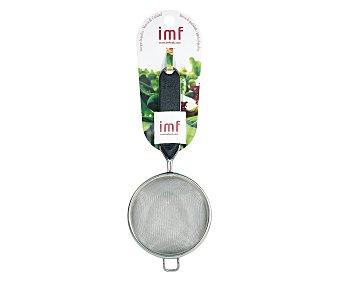 IMF Colador de acero inoxidable con un apoyo y mango de polietileno, 10 centímetros de diámetro 1 unidad