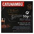 Café espresso en cápsulas Catunambú compatible con 10 unidades de 5 g Nespresso