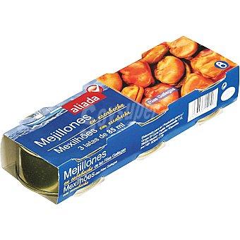 Aliada Mejillones en escabeche pack 3 lata 43 g neto escurrido Pack 3 lata