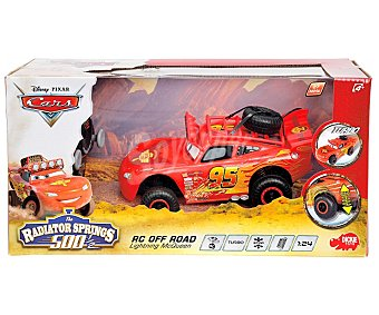 DISNEY Coche Radiocontrol Rayo Mc Queen Off Road, Escala 1:24 1 Unidad