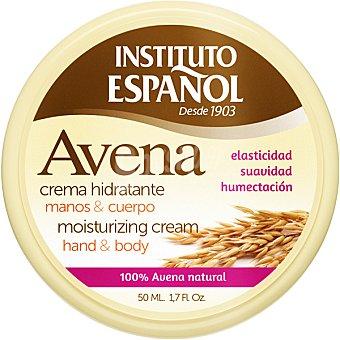 Instituto Español Avena crema hidratante para manos y cuerpo tarro 50 ml