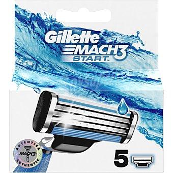 Gillette Mach3 Start recambio de maquinilla de afeitar blister 5 unidades blister 5 unidades