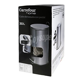 Carrefour Home Cubo basura acero inoxidable 30l 1 ud