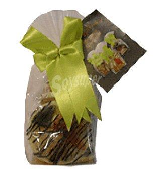 Blanco Medallones de frutos deshidratados con chocolate Bolsa 168 g