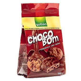 Gullón Galletas con pepitas y cubiertas de chocolate con leche 100 g