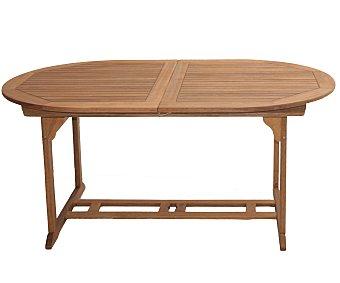 PLOOS Mesa ovalada modelo Malmo, fabricada en madera de acacia 100% FSC y medidas: 160x90x75 centímetros 1 unidad