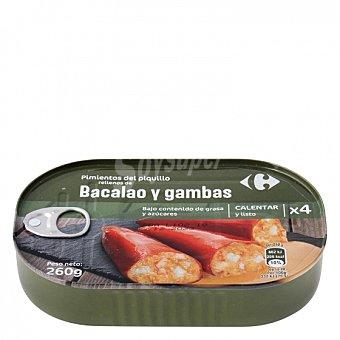 Carrefour Pimientos del piquillo rellenos de bacalao Carrefour 260 g