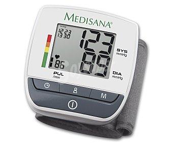 MEDISANA BW 310 Tensiómetro de pulso Pantalla de fácil lectura, indicador de arritmias, 60 espacios de memoria x 2 usuarios, semaforo de resultados