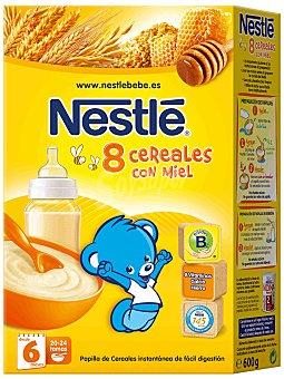 Nestlé Papillas Papilla 8 cereales con miel desde 6 meses Caja 600 g