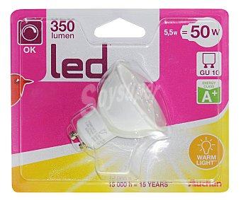 Auchan Foco led spot regulable 5.5W, con casquillo GU10 y luz cálida 1 unidad