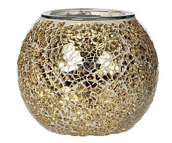Edelman Portavela decorado con efecto mosaico, de 11.5x13.5 centímetros y de color oro )