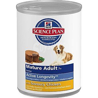 HILL'S SCIENCE PLAN Senior +7 años alimento húmedo para perros con pollo Lata 370 g
