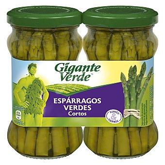 Gigante Verde Esparragos verdes cortos especiales para revuelto Pack 2 x 110 g (neto escurrido)