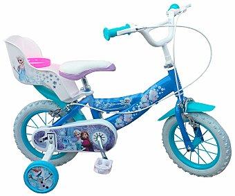 TOIMSA Bicicleta Infantil Frozen con Portamuñecas Trasero, 1 Velocidad 12 Pulgadas 1 Unidad