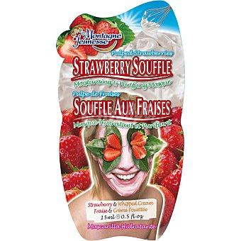 Montagne Jeunesse mascarilla hidratante y purificante souffle de fresas envase 15 ml