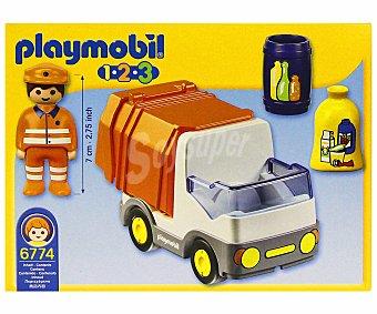 PLAYMOBIL Conjunto de juego, playset Camión de basura, incluye 1 figura, modelo 6774 1.2.3 1 unidad