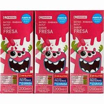 Eroski Batido de fresa Pack 6x200 ml