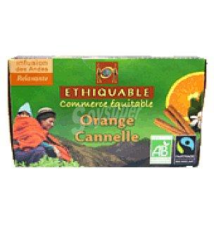 Ethiquable Infusión de naranjo, canela 25 bolsitas 25 ud