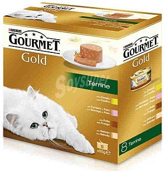 Gourmet Gold Comida para gatos Terrine Surtido Pack 8x85 gr