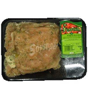 Pechuga de pollo al ajillo Bandeja de 500.0 g.
