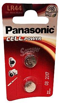 Panasonic Pila alcalina LR44 Paquete de 2 unidades