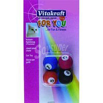 Vitakraft For You Bolas De billar para gatos 1 pack