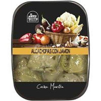 HORNO ARTESANO Alcachofas con jamón Bandeja 300 g